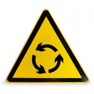 环形路口警告牌
