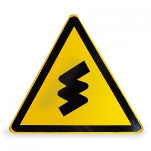连续转弯路口警告标志