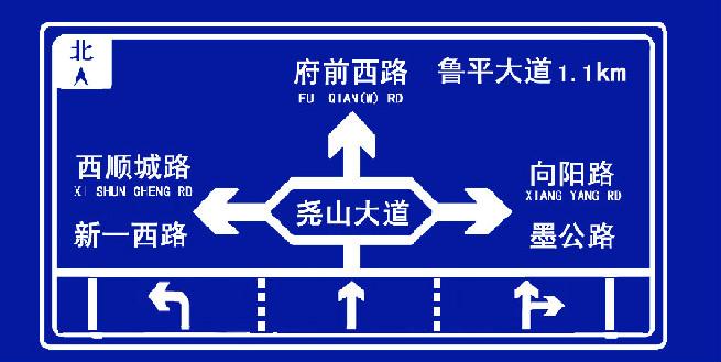 城市道路指示牌