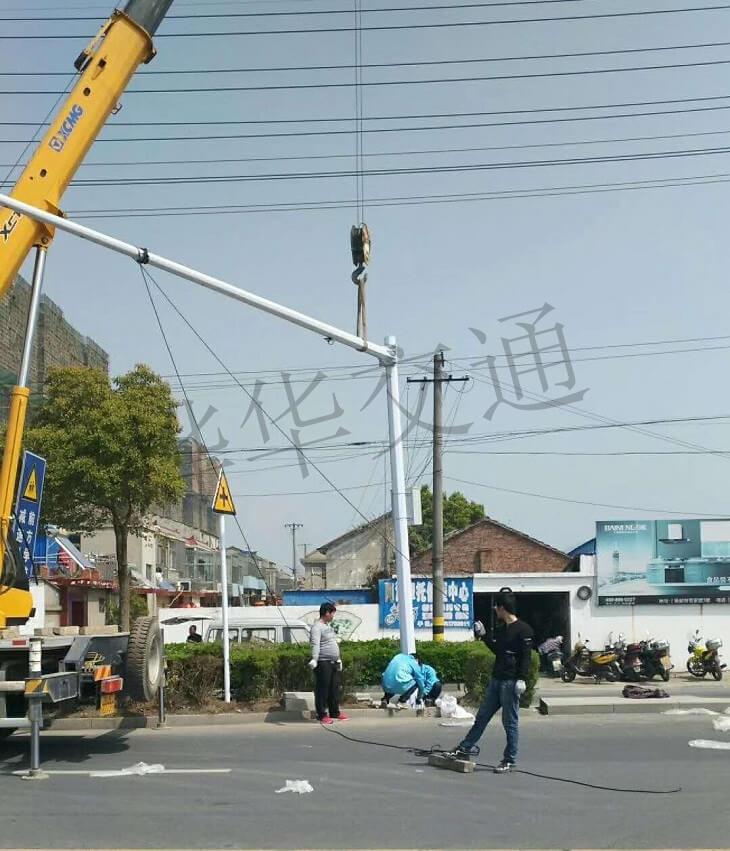 扬州信号灯安装案例
